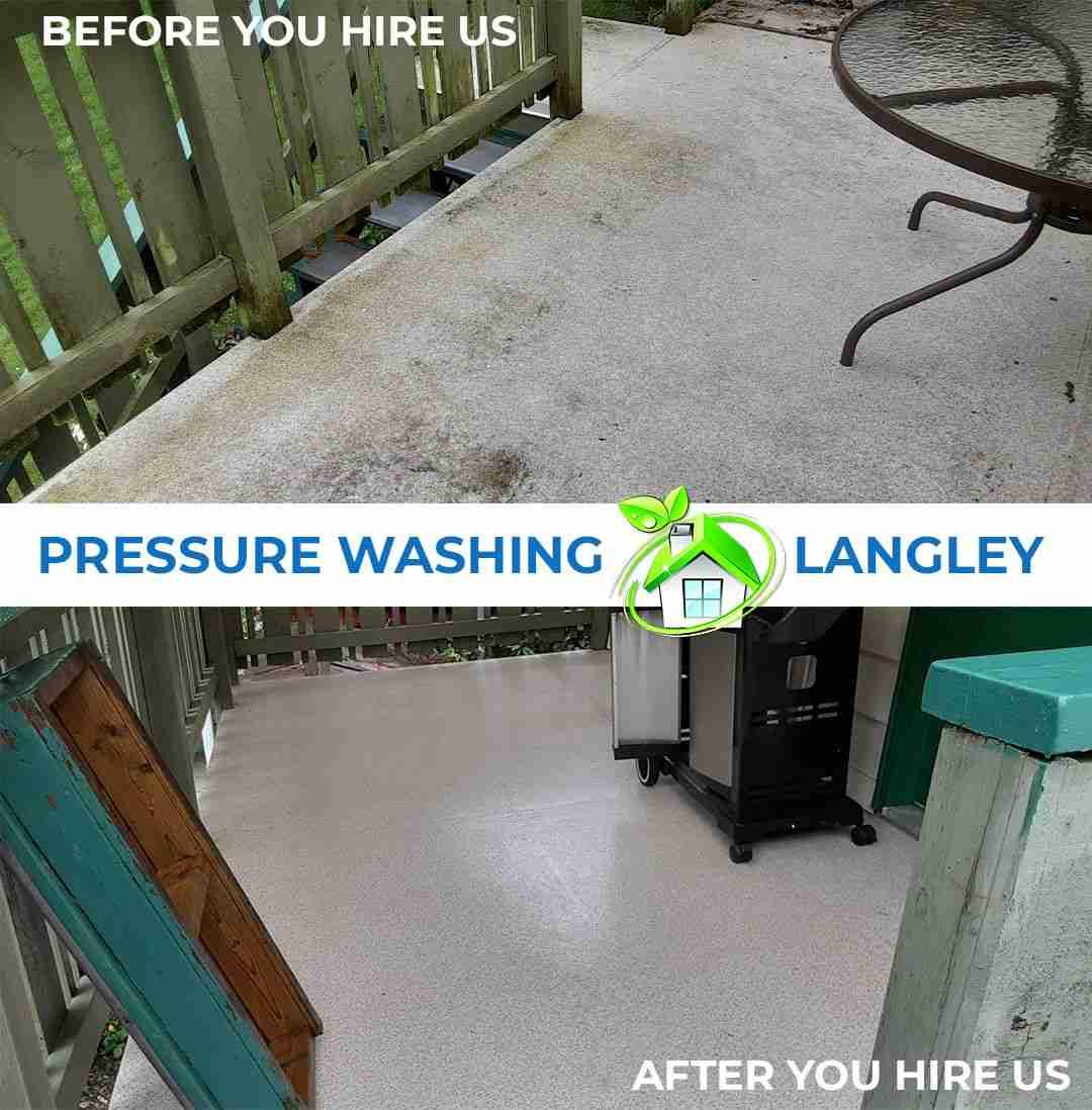 pressure washing in langley